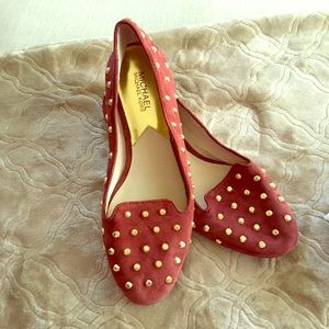 Michael Kors Shoes - Gorgeous Michael Kors suede/leather studded flats